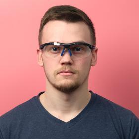 """Очки спортивные """"Мастер К."""" UV400, ширина 14 см, дужка 14 см, линза 4.5х8 см"""