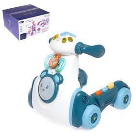 Каталка-ходунок «Мини байк», световые и звуковые эффекты, цвет голубой
