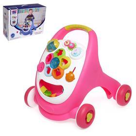 Каталка-ходунок «Первые шаги», цвет розовый