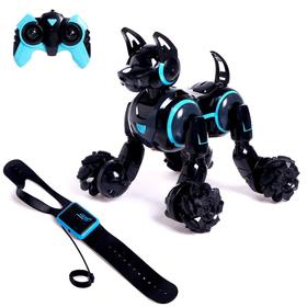 Robot - Cyber dog dog, gesture management, light and sound effects, black color