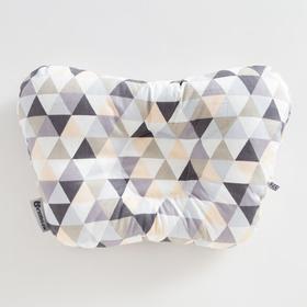 Подушка анатомическая Крошка Я «Геометрия», 26х22 см, 100% хлопок, сатин