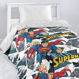 Покрывало стеганое Непоседа Супермен 145х200см поплин 105гм хл100%