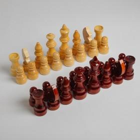 Шахматные фигуры гроссмейстерские, дерево, h=5.6-11.6 см, d=3.0-3,8 см