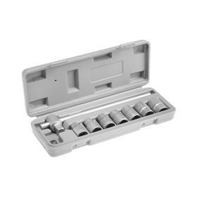 Набор головок 04-11-007, 10-19 мм, вороток, 8 предметов