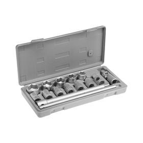 """Набор головок 04-11-008, 10-27 мм, вороток, карданный шарнир 1/2"""", 15 предметов"""