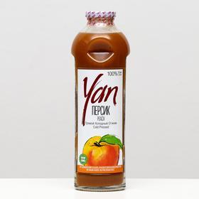 Персиково-яблочный сок прямого холодного отжима YAN, 930 мл.