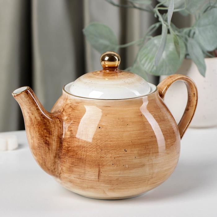 Чайник заварочный Доляна «Млечный путь», 900 мл, 20×13,5×14 см, цвет коричневый - фото 882997