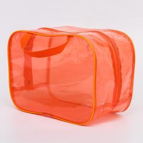 Сумка в роддом 23х32х17, цветной ПВХ, цвет оранжевый