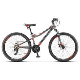 "Велосипед 26"" Stels Navigator-610 MD, V040, цвет серый/красный, размер 16"""