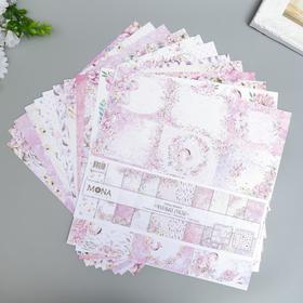 """Набор бумаги для скрапбукинга """"Маленькое счастье"""" 12 листов, 30,5х30,5 см"""