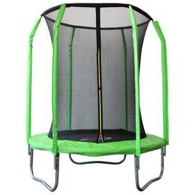 Батут SportElite, d=183 см, фиберглас, с внутренней защитной сеткой, цвет салатовый