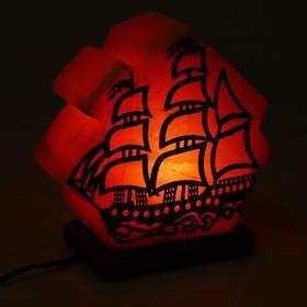 """Солевая лампа Wonder Life """"Кораблик"""", 15 Вт, гималайская соль, от сети"""