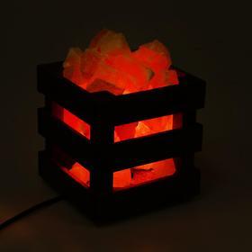"""Солевая лампа Wonder Life """"Абажур из дерева"""", 15 Вт, гималайская соль, от сети"""
