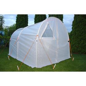 Теплица, 3 × 2 × 1,9 м, металлопластиковый профиль d = 20 мм, спанбонд 80 г/м², «Великан»