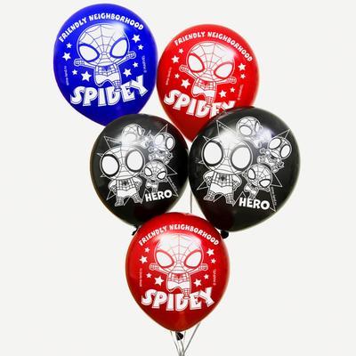 """Воздушные шары """"Spidey-hero"""", Человек-паук (набор 5 шт) 12 дюйм"""