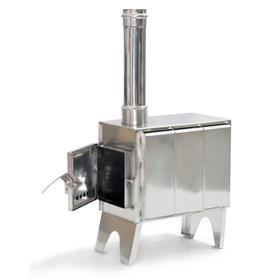 Мобильная печь «Турист», дымоход d=80 мм