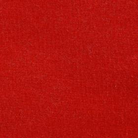 Велюр цвет красный, ширина 180 см
