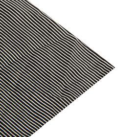 Ткань атлас, тонкая сине-белая полоска, ширина 150 см