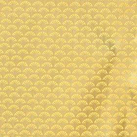 Ткань атлас мелкими золотыми чашуйками, ширина 150 см