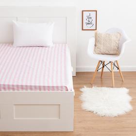 Простыня  LoveLife «Клетка», розовый, 150*215 см, 100 % хлопок, сатин