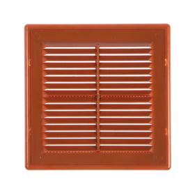 Решетка вентиляционная VENTSFERA РВРс, 170 х 170 мм, разъемная, с сеткой, бежевая