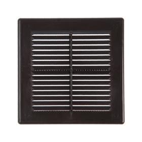 Решетка вентиляционная VENTSFERA РВРс, 170 х 170 мм, разъемная, с сеткой, коричневая