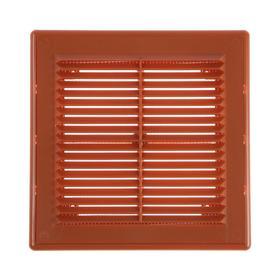 Решетка вентиляционная VENTSFERA РВРс, 200 х 200 мм, разъемная, с сеткой, бежевая