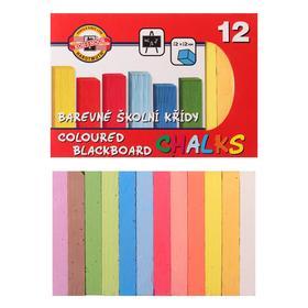 Мелки цветные 12 штук Koh-i-Noor 1125, прямоугольные