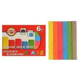 Мелки цветные 6 штук Koh-i-Noor 1125, прямоугольные