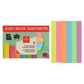 Мелки цветные 6 штук Koh-i-Noor 1125, прямоугольные, флуор
