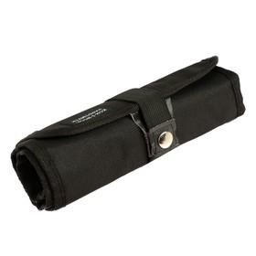 Пенал-рулон 24 предмета Koh-i-Noor 9050, без наполнения, текстильный на кнопке, черный