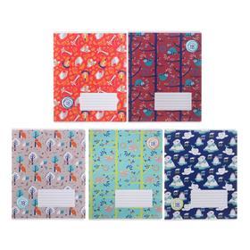 Тетрадь 18 листов в линейку Animal Planet, обложка мелованный картон, выборочный лак, блок офсет, МИКС