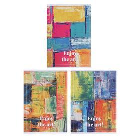 """Тетрадь А4, 80 листов в клетку """"Искусство"""", облозжка мелованный картон, блок офсет, МИКС"""