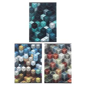 """Тетрадь А4, 80 листов в клетку """"Кубики"""", обложка мелованный картон, УФ-лак, блок офсет, МИКС"""