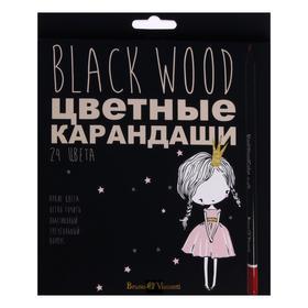 24 Colors Pencils BlackwoodColor, Mix