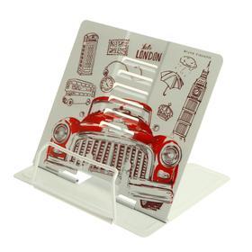 """Подставка для книг металлическая """"Красный автомобиль. Лондон"""", с регулируемым наклоном"""