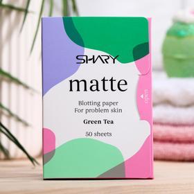 """Матирующие салфетки для лица Shary """"Зеленый чай"""" для проблемной кожи, 12г"""