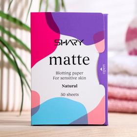 """Матирующие салфетки для лица Shary """"Натуральные"""" для чувствительной кожи, 12г"""