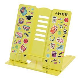 """Подставка для учебников и книг металлическая 15.4 х 15.2 см, """"deVENTE. Back to School"""", вес 235 г, с противоскользящими ножками, песочно-желтая"""