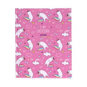 Дневник для 1-4 классов Pattern Pretty caticorn, обложка мелованный картон, матовая ламинация, выборочный лак, 48 листов