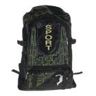 Рюкзак молодежный Sport, трансформер, 1 отдел, 2 наружных и 2 боковых кармана, черно-зеленый