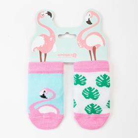 Набор носков Крошка Я «Фламинго», 2 пары, 10-12