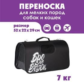 Сумка-переноска раскладная, каркасная «Бро не багаж» 52x22x29 см