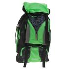 """Рюкзак туристический """"Паутинка"""", 1 отдел, 5 наружных карманов, усиленная спинка, объём - 53л, чёрный/зелёный"""