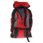 """Рюкзак туристический """"Паутинка"""", 1 отдел, 5 наружных карманов, усиленная спинка, объём - 53л, чёрный/красный"""