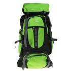 """Рюкзак туристический """"Горы"""", 1 отдел, 6 наружных карманов, усиленная спинка, объём - 50л, чёрный/зелёный"""
