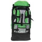 Рюкзак туристический SPORT, трансформер, 1 отдел, 5 наружных карманов, усиленная спинка, объём - 33/40л, чёрный/зелёный