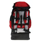Рюкзак туристический SPORT, трансформер, 1 отдел, 5 наружный карманов, усиленная спинка, объём - 33/40л, чёрный//красный