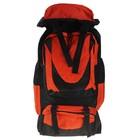 """Рюкзак туристический """"Вояж"""", 1 отдел, 4 наружных кармана, усиленная спинка, объём - 67л, чёрный/оранжевый"""
