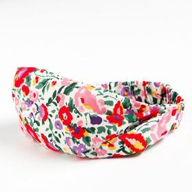 Косынка-повязка для девочки, цвет розовый/цветы, размер 52-56